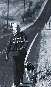 Peace Pilgrim, Mildred Norman, walked on her journey of peace carrying only a pen, comb, toothbrush and a map.