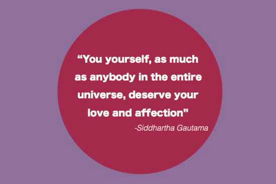 Buddha's quote on self-kindness
