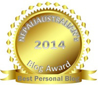 Winner of Best Personal Blog 2014 awarded by Nepaliaustralian