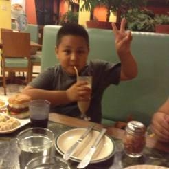 Little Adwitiya enjoying his dinner